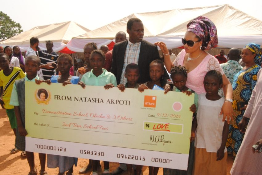 Cheque presentation to benefited schools at the pilot phase of Scholarship For Elementary School Pupils